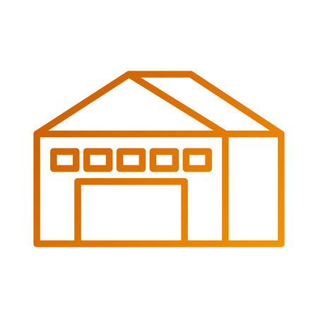 warehouse building exterior commercial empty vector illustration Illustration