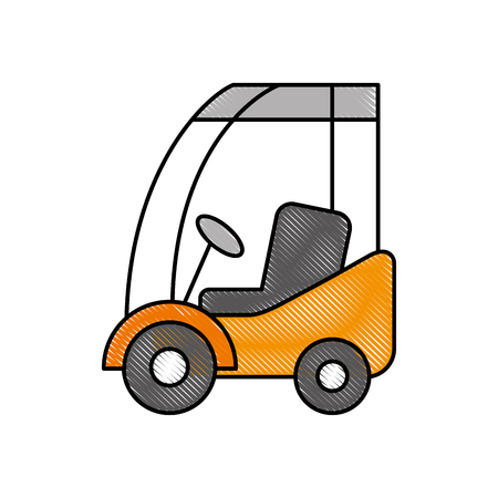 machinery car commercial logistic vehicle vector illustration Illustration