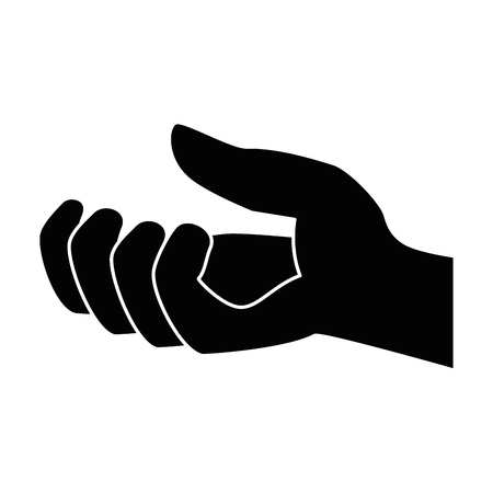 hand receiving isolated icon vector illustration design