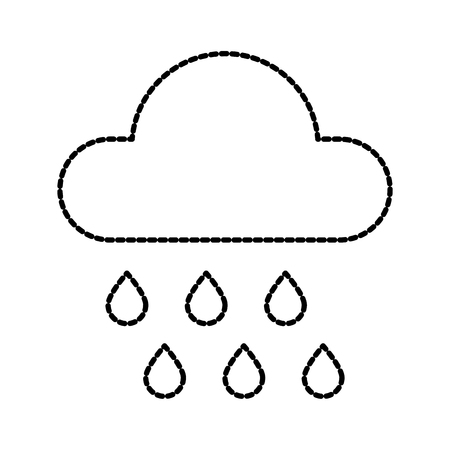 weather cloud rain drops season meteorology vector illustration