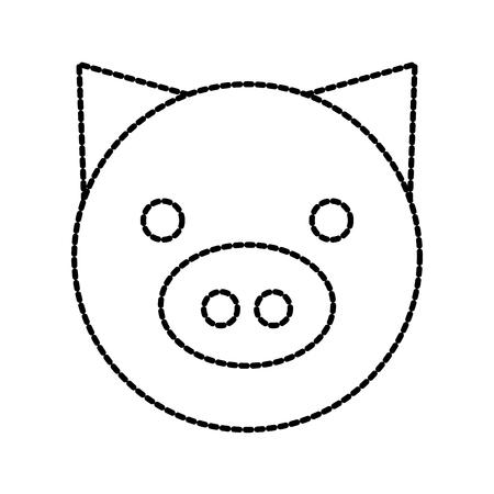 豚国内ファーム動物哺乳類のベクトル図  イラスト・ベクター素材