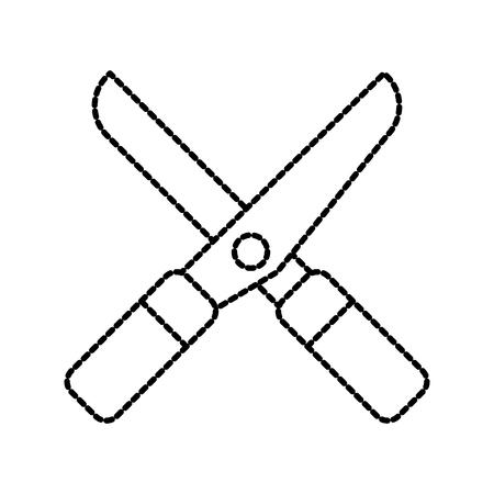 tuinieren schaar apparatuur landbouw pictogram afbeelding vectorillustratie
