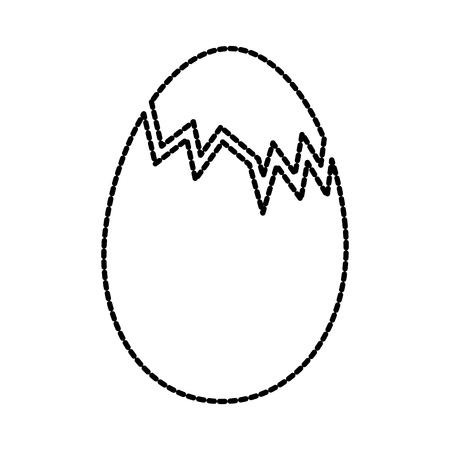壊れたチキン卵食品ファームのベクトル図