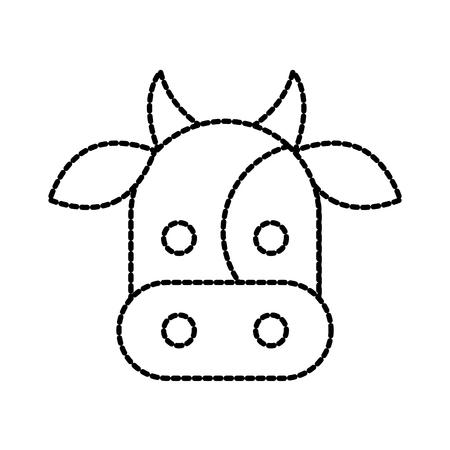 Ilustración de vector doméstico de mamífero de vaca de granja Foto de archivo - 87730188