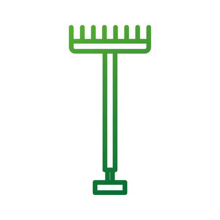 metal garden pitchfork with plastic handle for working with hay farm vector illustration Illustration