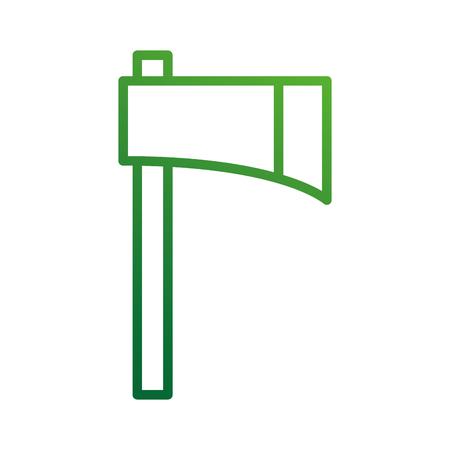 boerderij bijl gereedschap apparatuur snijden instrument vectorillustratie Stock Illustratie