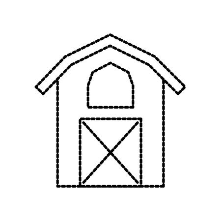 헛간 아이콘 농업 농장 집 건물 그래픽 벡터 일러스트 레이션