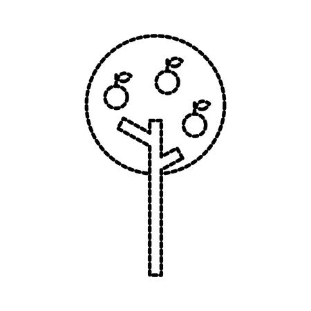 Apfelbaum mit Obst Landwirtschaft Garten Vektor-Illustration Standard-Bild - 87730240