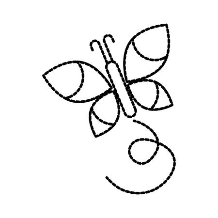 Flügel Schönheit Schmetterling Insekt Natur Vektor-Illustration Standard-Bild - 87730244