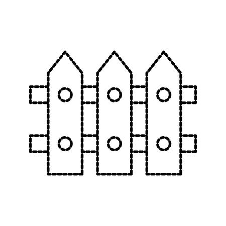 Décoration de clôture en bois décoration élément illustration vectorielle Banque d'images - 87730263