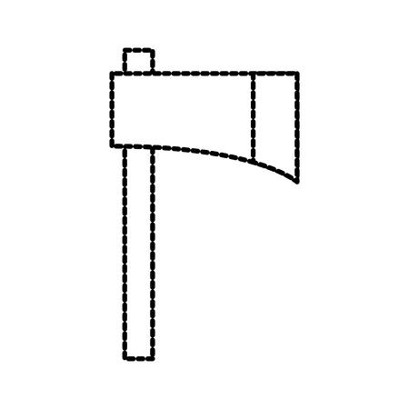 farm ax tool equipment cutting instrument vector illustration Illustration