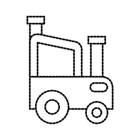 agricultural tractor car vehicle farm transport vector illustration