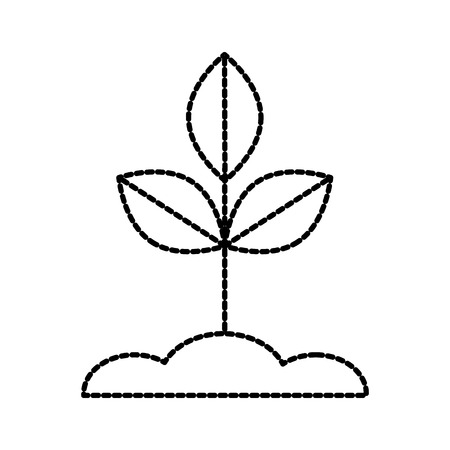 Pile de sol et de feuilles de laurier feuilles de laurier illustration vectorielle Banque d'images - 87729568
