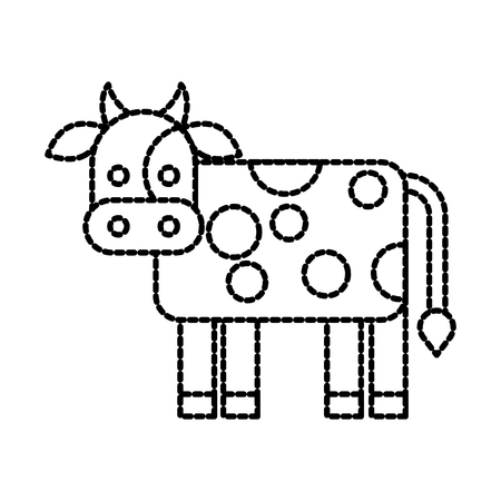 boerderij koe dier zoogdier binnenlandse vectorillustratie