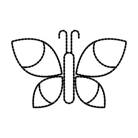 Flügel Schönheit Schmetterling Insekt Natur Vektor-Illustration Standard-Bild - 87729627
