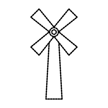 windmill farm agriculture bakery bread icon vector illustration