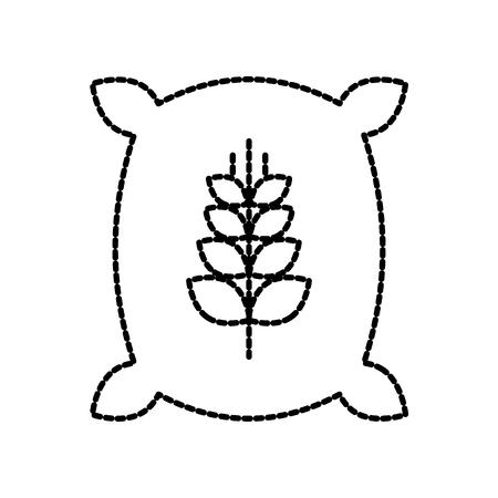 밀가루 곡물 자루 가방 밀가루 곡물 농장 자루 가방 일러스트