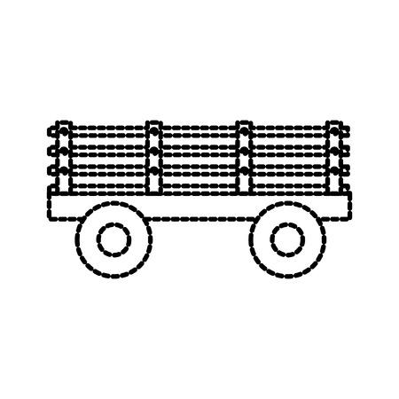 농장 동물의 운송을위한 바퀴에 트레일러 농업 기계 벡터 일러스트 일러스트