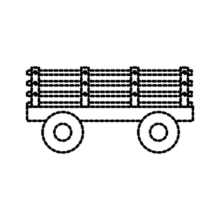 trailer on wheels for transportation of farm animals agricultural machinery vector illustration