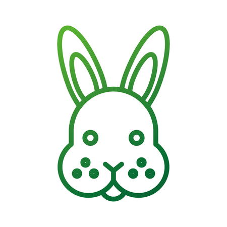 farm animal rabbit face cute furry vector illustration Ilustração