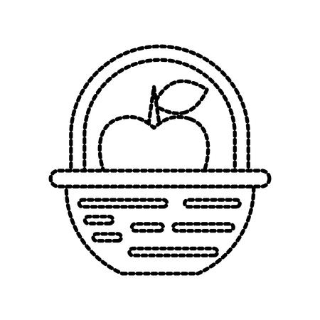 Nature panier fruits de pêche nature illustration vectorielle Banque d'images - 87730268