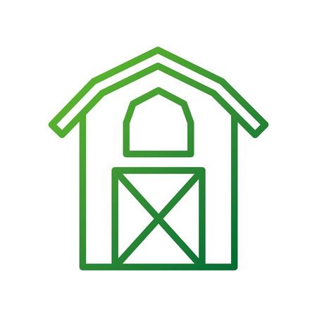納屋アイコン農業ファーム ハウス グラフィック ベクトル図の構築  イラスト・ベクター素材