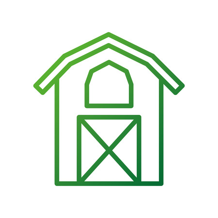 barn icon agriculture farm house building graphic vector illustration
