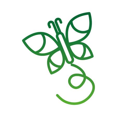 美蝶自然昆虫ベクトル図を翼します。  イラスト・ベクター素材