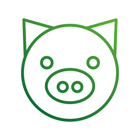 pig domestic farm animal mammal vector illustration