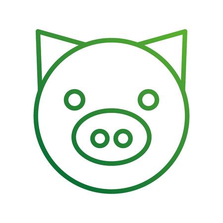 Schwein inländischen Bauernhof Tier Säugetier Vektor-illustration Standard-Bild - 87730397