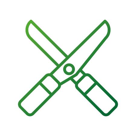 gardening scissors equipment agriculture icon image vector illustration Banco de Imagens - 87730398