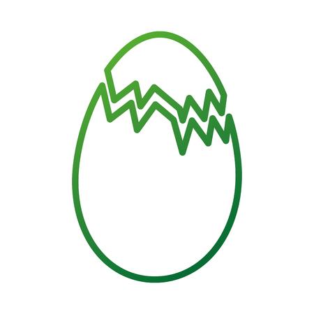 gebroken kippenei voedsel boerderij vectorillustratie Stock Illustratie