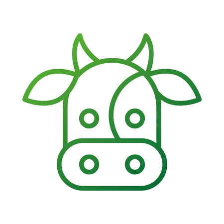farm cow animal mammal domestic vector illustration Çizim
