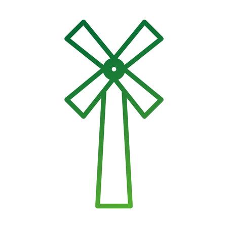 風車ファーム農業ベーカリー パン アイコン ベクトル図