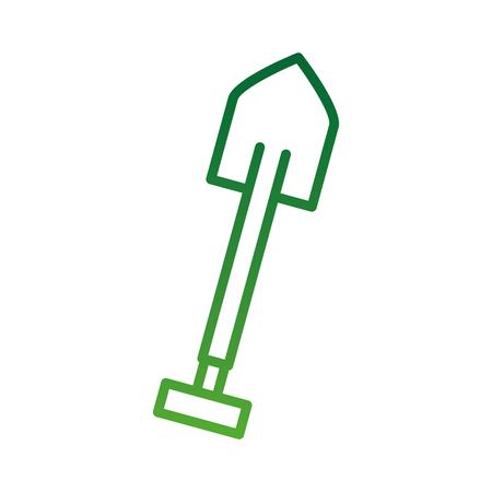 シャベルは庭のベクトル図で作業するためのプラスチック製のハンドル