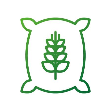 Sack tasche von weizen mehl korn bauernhof sack tasche von weizen mehl und eine getreidefarm Standard-Bild - 87731629