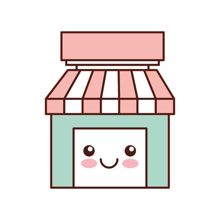 store grocery shop building exterior vector illustration 向量圖像