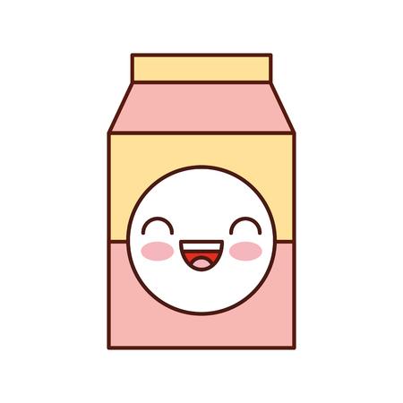 melk of sap doos karton met drinkende vector illustratie