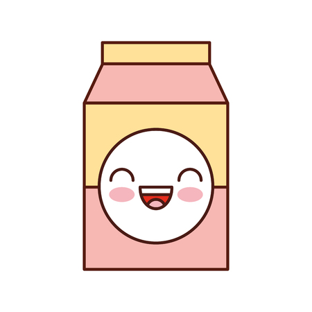 milk or juice box carton with drinking vector illustration Ilustração