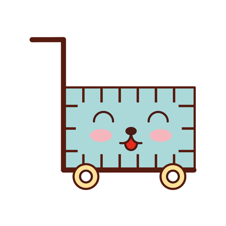 cart shopping empty supermarket cartoon vector illustration 版權商用圖片 - 87731697