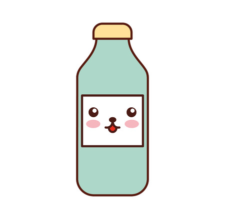 bottle   cartoon vector illustration 向量圖像