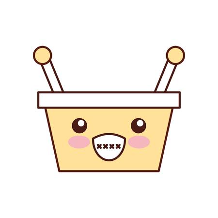 Ilustración de vector de dibujos animados de mango cesta supermercado manejar Foto de archivo - 87733221