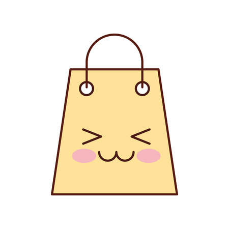 paper gift bag shopping commerce market vector illustration Illustration