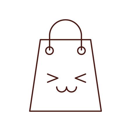 paper gift bag shopping commerce market vector illustration Illustration