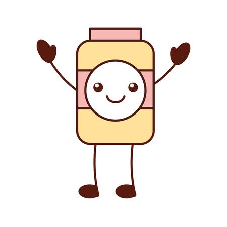 bottle juice drink market product cartoon vector illustration Illustration