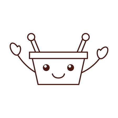 Ilustración de vector de dibujos animados de mango cesta supermercado manejar Foto de archivo - 87732658