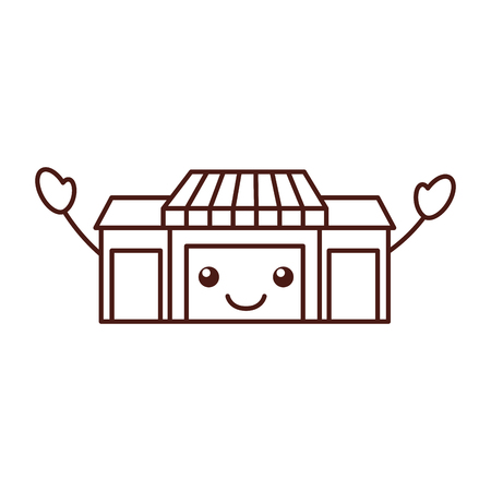 store grocery shop building exterior vector illustration Ilustracja