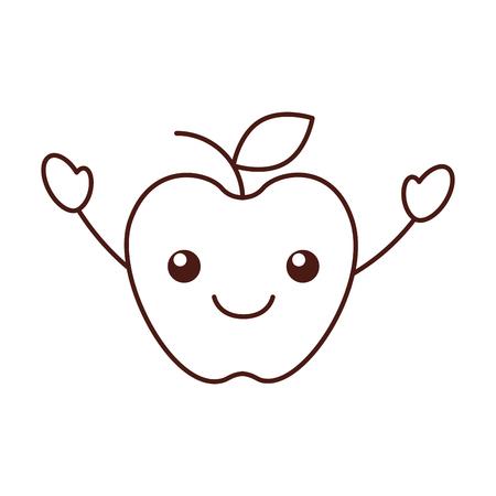 Ilustración de vector de dibujos animados de mercado de alimentos de manzana de fruta fresca Foto de archivo - 87732841