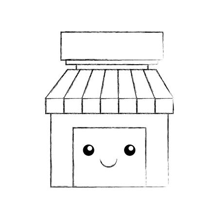 store grocery shop building exterior vector illustration Illustration