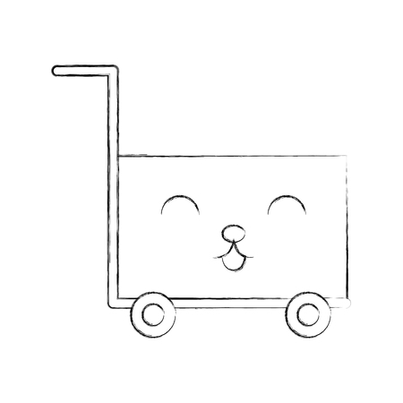 cart shopping empty supermarket cartoon vector illustration 版權商用圖片 - 87737708
